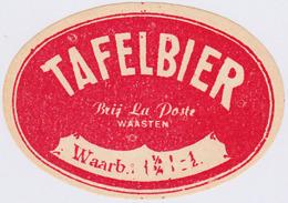 ETIQUETTE BIERE TAFELBIER / BR. LA POSTE / WARNETON - Beer