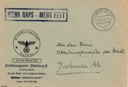 Env Frei Durch Ablôsung Reich Obl KOLMAR (ELS) 1 Du 10.9.43 Adressée à Kolmar - Marcophilie (Lettres)