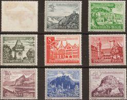 Alemania. MNH **Yv 654/62. 1939. Serie Completa (el 3 P Sin Goma). MAGNIFICA. (Mi730/38 58'80 Euros) - [1] ...-1849 Precursores