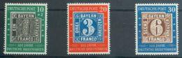 Alemania Bi-zona. MH *Yv 76/78. 1949. Serie Completa. MAGNIFICA. Yvert 2011: 70 Euros. - [1] ...-1849 Precursores