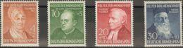 Alemania Occidental. MH *Yv 42/45. 1952. Serie Completa. MAGNIFICA. Yvert 2014: 65 Euros. - [1] ...-1849 Precursores