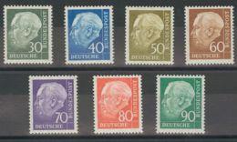 Alemania Occidental. MNH **Yv 125A/129B. 1957. Serie Completa, Siete Valores. MAGNIFICA. Yvert 2014: 50 Euros. - [1] ...-1849 Precursores