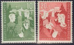 Alemania Occidental. MNH **Yv 39/40. 1952. Serie Completa. MAGNIFICA. Yvert 2014: 50 Euros. - [1] ...-1849 Precursores