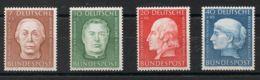 Alemania Occidental. MNH **Yv 76/79. 1954. Serie Completa. MAGNIFICA. Yvert 2014: 60 Euros. - [1] ...-1849 Precursores