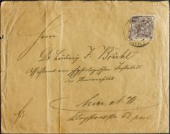 Alemania, Locales. Sobre Yv . 1896. 3 P Violeta Gris BELLINER GEWERBE AUSSTELLUNG. Correo Interior De BERLIN, Circulada - Germany