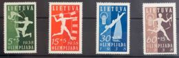 Lituania. MH *Yv 362/65. 1938. Serie Completa. MAGNIFICA. Yvert 2012: 60 Euros. - Lituania