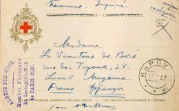 Rusia. Sobre Yv 39. 1907. 2 K Verde. Tarjeta Postal De La Cruz Roja De KARSUN A LAVAL (FRANCIA). MAGNIFICA. - Unclassified