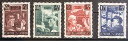 Austria. MH *Yv 794/97. 1951. Serie Completa. MAGNIFICA. Yvert 2011: 60 Euros. - Austria