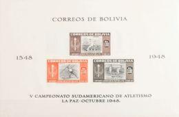 Bolivia, Hoja Bloque. MH *Yv 11/14. 1951. Hojas Bloque. SIN DENTAR. MAGNIFICAS. Yvert 2013: 70 Euros. - Bolivia
