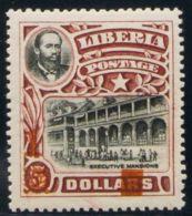 Liberia. MH *Yv 126a. 1916. 1 Sobre 5 D Castaño Y Negro. CAMBIO DE COLOR DE LA SOBRECARGA, En Rojo. MAGNIFICO. Edifil 20 - Liberia