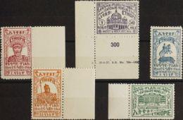 Etiopía. MNH **Yv 235/39. 1944. Serie Completa. MAGNIFICA. Yvert 2018: 45 Euros. - Etiopía