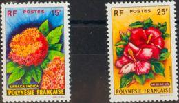 Polinesia. MNH **Yv 15/16. 1962. Serie Completa. MAGNIFICA. Yvert 2014: 45 Euros. - Polynésie Française