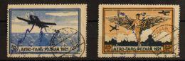 Polonia, Viñetas. ºYv . 1921. 25 M Ocre Y Negro Y 100 M Azul Y Negro. AERO TARG-POZNAN 1921. MAGNIFICAS. - Sin Clasificación