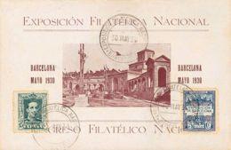 España. Ayuntamiento De Barcelona. Ayuntamiento De Barcelona. EXPOSICION FILATELICA NACIONAL / BARCELONA. MAGNIFICA. - Barcelona