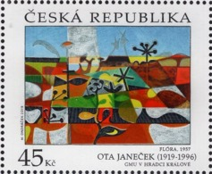 Czech Republic - 2019 - Art On Stamps - Ota Janeček - Mint Stamp - Repubblica Ceca
