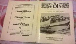 LA FESTA  N. 34 19/7/1931 II°GIRO AEREO D'ITALIA/ BOEMIA - Boeken, Tijdschriften, Stripverhalen