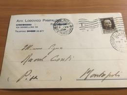 CARTONCINO DA VISITA  AVVOCATO FIRENZE 1930 - Visitekaartjes