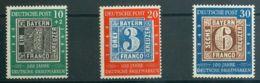 Alemania Bi-zona. MH *Yv 76/78. 1949. Serie Completa. BONITA. Yvert 2011: 70 Euros. - [1] ...-1849 Precursores