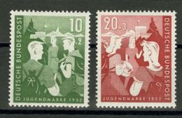Alemania Occidental. MNH **Yv 39/40. 1952. Serie Completa. MAGNIFICA. Yvert 2011: 60 Euros. - [1] ...-1849 Precursores
