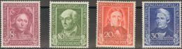Alemania Occidental. MH *Yv 3/6. 1949. Serie Completa. MAGNIFICA. Yvert 2014: 80 Euros. - [1] ...-1849 Precursores