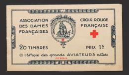 Francia, Viñetas. MH *Yv . 1918. Carnet Con Veinte Viñetas Con Efigies De Aviadores. ASSOCIATION DES DAMES FRANÇAISES. M - France