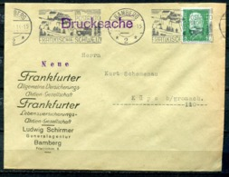 """German Empires Bamberg 1929 Firmen Bedarfsbrief Mit Mi.Nr.411 Und Kraftpost MWST"""" Bamberg-Im Postauto Durch.. """"1 Beleg - Briefe U. Dokumente"""