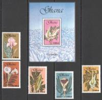 P115 GHANA NATURE FLORA FLOWERS ORCHIDS #1484-89 MICHEL 20,5 EURO 1SET+1BL MNH - Orquideas