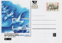 Czech Republic - 2019 - International Stamp Fair In Sindelfingen - Special Postcard With Hologram - Postwaardestukken