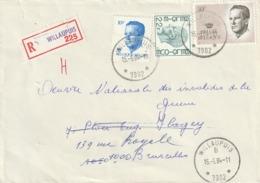 Relais / Sterstempel - WILLAUPUIS (RECOMMANDE) - Storia Postale