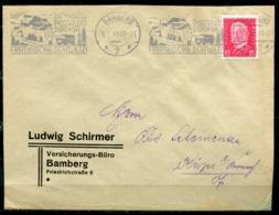 """German Empires Bamberg 1930 Firmen Bedarfsbrief Mit Mi.Nr.414 Und Kraftpost MWST"""" Bamberg-Im Postauto Durch.. """"1 Beleg - Briefe U. Dokumente"""