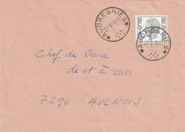 Relais / Sterstempel - AUDREGNIES - Storia Postale