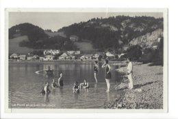 23592 - Vallée De Joux Le Pont Et Le Lac De Joux Les Nageurs (attention Carte Coupée 2 Fois) - VD Waadt