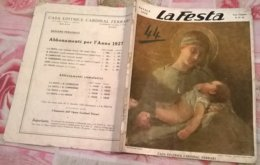 LA FESTA  N.51-52 NATALE 1926 TERRA SANTA/PIOXI/S.ROLUALDO/A.VOLTA/DA AMBURGO ALLO SPITZBERG/PUB.:RINASCENTE,PIRELLI - Other