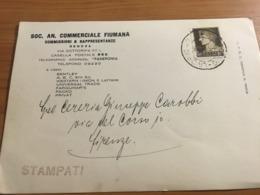 CARTONCINO DA VISITA VIAGGIATO  1936 - Visitekaartjes