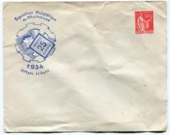 RC 14494 FRANCE ENTIER TSC 50c PAIX EXPOSITION DE MULHOUSE 1934 COTE 100€ ( VOIR DESCRIPTION ) - Postal Stamped Stationery