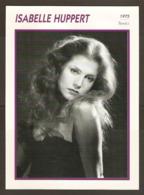 PORTRAIT DE STAR 1975 FRANCE - ACTRICE ISABELLE HUPPERT - ACTRESS CINEMA FILM PHOTO - Fotos