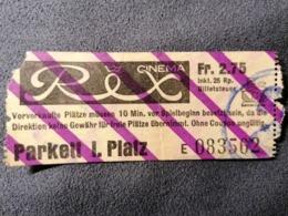 Old Small Ticket REX CINEMA Zürich  Switzerland Cinema Schweiz 1950's / 60's Kino - Tickets - Entradas