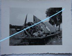 Photo Avion Français Démonté Sur Wagon Crashed French Plane On Railway Wagon 1940 Aviation Force Aérienne Plane War - Guerre, Militaire