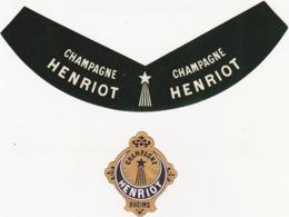 Etiquette Champagne / Lot De 2 Pièces / Champagne HENRIOT RHEIMS (Reims) - Champagne