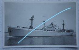 Photo ZEEMACHT Marine Belge SS Capitaine Frankignoul Gebouw Te Portland Liberty Ship Boot Boat - Bateaux