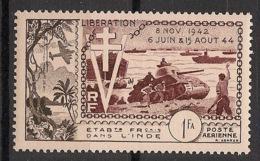 Inde - 1954 - Poste Aérienne PA N°Yv. 22 - Anniversaire De La Libération - Neuf Luxe ** / MNH / Postfrisch - Unused Stamps