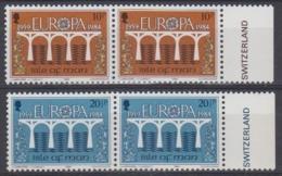 Europa Cept 1984 Isle Of Man 2v (pair) ** Mnh (45189N) - Europa-CEPT