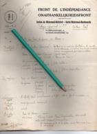 FRONT DE L'INDEPENDANCE  Boitsfort  Audergem  Tervuren  Woluwe Etterbeek Brussel Sécteur Est  3 Pages - 1939-45