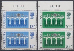 Europa Cept 1984 Guernsey 2v (pair) ** Mnh (45189S) - Europa-CEPT