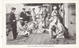 Life In The Navy - Fitting Coaling Strops              (A-131-160926) - Guerra