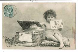 CPA-Carte Postale-France-1er Avril Un Garçonnet Et Un Panier Rempli De Poissons-1904   VM8956 - 1er Avril - Poisson D'avril