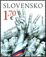 Slovakia - 2019 - 30th Anniversary Of Velvet Revolution - Joint Issue With Czechia - Mint Stamp - Slowakije