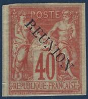 France Colonies Réunion N°14B* 40c Orange Tres Frais Signé Calves - Réunion (1852-1975)