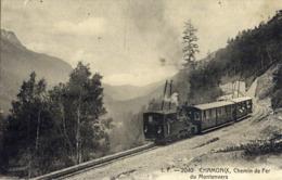 Chamonix Vue Peu Commune Train  Chemin De Fer Du Montenvers Haute Savoie - Chamonix-Mont-Blanc