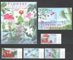 C1186 GRENADA FLORA NATURE FLOWERS OF CARIBBEAN !!! KB+BL+SET MNH - Vegetales